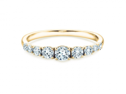 9 Diamonds in 18K Gelbgold mit Diamant 0,27ct