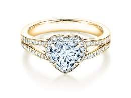 Verlobungsring Flame in 18K Gelbgold mit Diamant 1,54ct