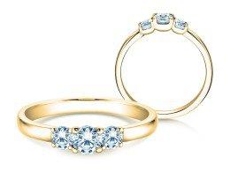 Verlobungsring Glory Petite in 18K Gelbgold mit Diamanten 0,50ct