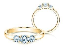 Verlobungsring Glory Petite in 18K Gelbgold mit Diamanten 0,60ct
