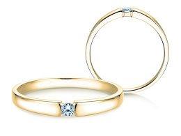 Verlobungsring Infinity Petite in 14K Gelbgold mit Diamant 0,06ct