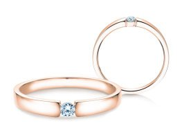 Verlobungsring Infinity Petite in 14K Roségold mit Diamant 0,09ct
