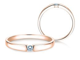 Verlobungsring Infinity Petite in 14K Roségold mit Diamant 0,06ct