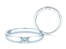 Verlobungsring Infinity Petite in 14K Weißgold mit Diamant 0,09ct