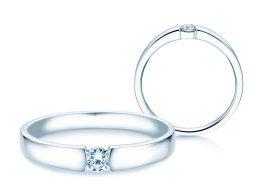 Verlobungsring Infinity Petite in 14K Weißgold mit Diamant 0,13ct