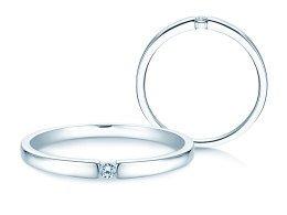 Verlobungsring Infinity Petite in 14K Weißgold mit Diamant 0,03ct
