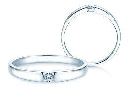 Verlobungsring Infinity Petite in 14K Weißgold mit Diamant 0,06ct