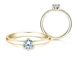 Verlobungsring Melody in 14K Gelbgold mit Diamant 0,50ct
