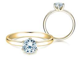 Verlobungsring Melody in 18K Gelbgold mit Diamant 1,00ct