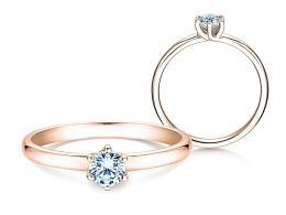 Verlobungsring Melody in 18K Roségold mit Diamant 0,40ct