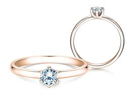 Verlobungsring Melody in 14K Roségold mit Diamant 0,50ct