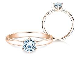 Verlobungsring Melody in 14K Roségold mit Diamant 0,75ct