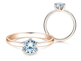 Verlobungsring Melody in 14K Roségold mit Diamant 1,00ct