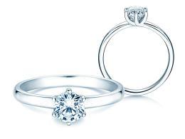 Verlobungsring Melody in Platin mit Diamant 0,75ct
