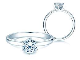 Verlobungsring Melody in 14K Weißgold mit Diamant 1,00ct