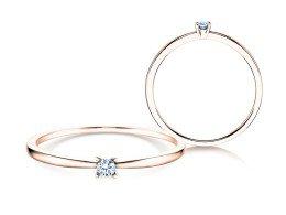 Verlobungsring Modern Petite in 14K Roségold mit Diamant 0,05ct