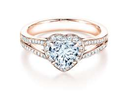 Verlobungsring Flame in 18K Roségold mit Diamant 1,54ct