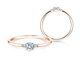 Verlobungsring Glory Petite in 14K Roségold mit Diamanten 0,20ct