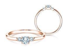 Verlobungsring Glory Petite in 14K Roségold mit Diamanten 0,30ct