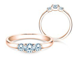 Verlobungsring Glory Petite in 18K Roségold mit Diamanten 0,50ct
