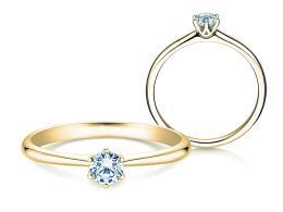 Verlobungsring Spirit in 14K Gelbgold mit Diamant 0,25ct