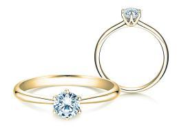 Verlobungsring Spirit in 14K Gelbgold mit Diamant 0,40ct