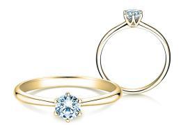 Verlobungsring Spirit in 14K Gelbgold mit Diamant 0,50ct