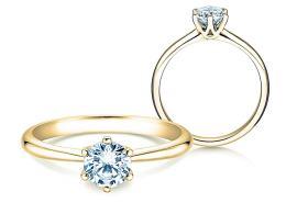 Verlobungsring Spirit in 14K Gelbgold mit Diamant 1,00ct