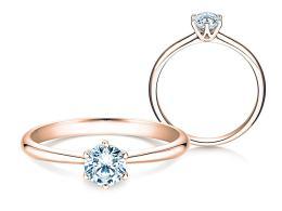 Verlobungsring Spirit in 14K Roségold mit Diamant 0,40ct