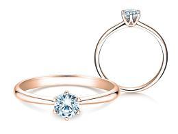 Verlobungsring Spirit in 14K Roségold mit Diamant 0,50ct