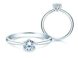 Verlobungsring Spirit in 14K Weißgold mit Diamant 0,40ct