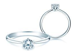 Verlobungsring Spirit in 14K Weißgold mit Diamant 0,50ct