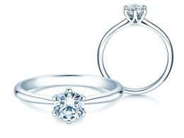 Verlobungsring Spirit in 14K Weißgold mit Diamant 1,00ct