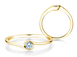Verlobungsring Touch in 14k Gelbgold mit Diamant 0,08ct