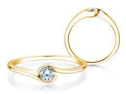 Verlobungsring Touch in 14k Gelbgold mit Diamant 0,13ct