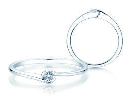 Verlobungsring Touch in Silber mit Diamant 0,04ct