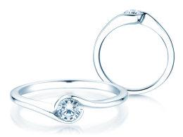 Verlobungsring Touch in Silber mit Diamant 0,23ct