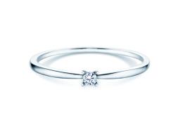 Verlobungsring Modern Petite in 14K Weißgold mit Diamant 0,05ct