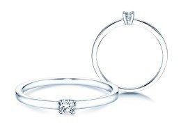Verlobungsring Modern Petite in 14K Weißgold mit Diamant 0,08ct