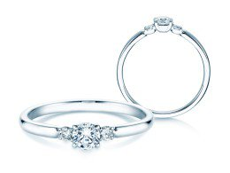 Verlobungsring Glory Petite in Platin mit Diamanten 0,30ct