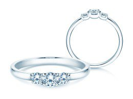 Verlobungsring Glory Petite in Platin mit Diamanten 0,40ct