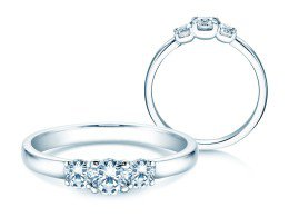 Verlobungsring Glory Petite in Platin mit Diamanten 0,50ct