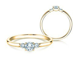 Verlobungsring Glory Petite in 14K Gelbgold mit Diamanten 0,30ct