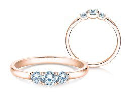 Verlobungsring Glory Petite in 18K Roségold mit Diamanten 0,40ct