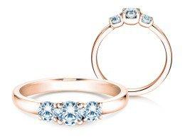 Verlobungsring Glory Petite in 14K Roségold mit Diamanten 0,60ct