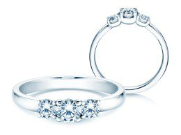 Verlobungsring Glory Petite in Platin mit Diamanten 0,60ct