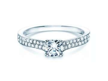 Verlobungsring Claire in 18K Weissgold mit Diamant 0,70ct