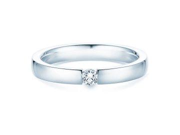 Verlobungsring Infinity in Silber und Diamant 0,10ct