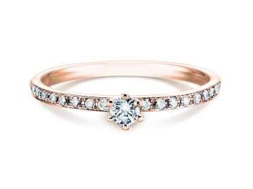 Verlobungsring Classic Pavé in 14K Roségold mit Diamant 0,25ct