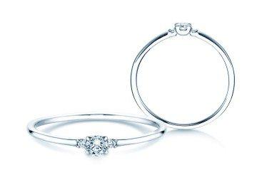 Verlobungsring Glory Petite in 14K Weißgold mit Diamanten 0,10ct